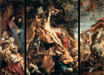Raising of the Cross Baroque Peter Paul Rubens Oil Paintings