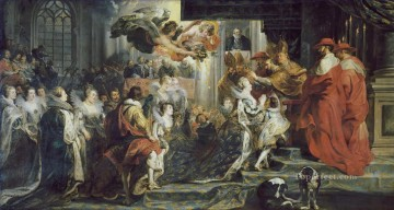 The Coronation in Saint Denis by Peter Paul Rubens Oil Paintings