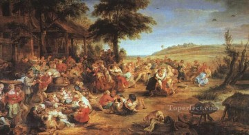 The Village Fete Baroque Peter Paul Rubens Oil Paintings