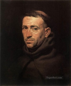 Peter Oil Painting - Head of a Franciscan Friar Baroque Peter Paul Rubens