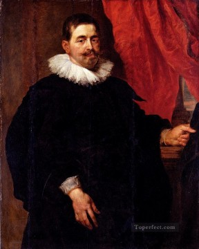 Peter Canvas - Peter Paul Portrait Of A Man Probably Peter Van Hecke Baroque Peter Paul Rubens