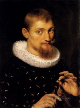 Peter Oil Painting - Portrait Of A Man Baroque Peter Paul Rubens