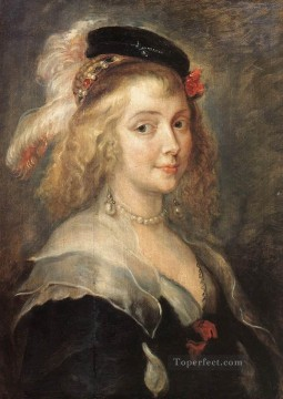 Peter Oil Painting - Portrait of Helena Fourment Baroque Peter Paul Rubens