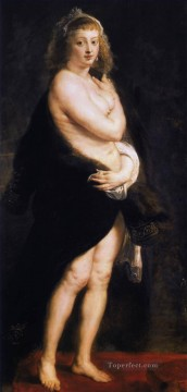 Venus in Fur Coat Baroque Peter Paul Rubens Oil Paintings
