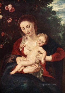 Virgin Painting - Virgin and Child 1620 Baroque Peter Paul Rubens
