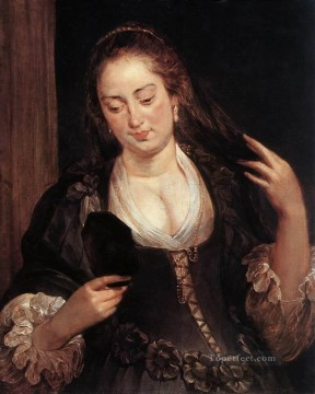 Woman with a Mirror Baroque Peter Paul Rubens Oil Paintings