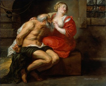 Peter Canvas - Cimon and Pero Baroque Peter Paul Rubens