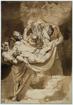 Peter Canvas - Entombment 1615 Baroque Peter Paul Rubens