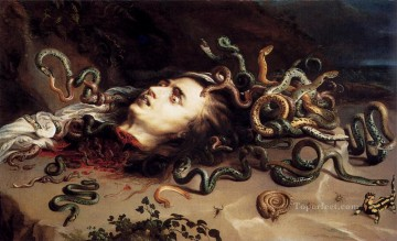 Peter Oil Painting - Head Of Medusa Baroque Peter Paul Rubens