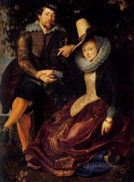 Peter Canvas - Self Portrait With Isabella Brant Baroque Peter Paul Rubens