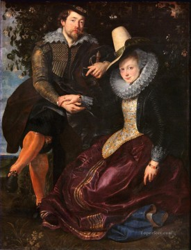 The Artist and His First Wife Isabella Brant in the Honeysuckle Bower Baroque Rubens Oil Paintings