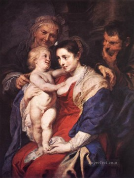 Peter Oil Painting - The Holy Family with St Anne Baroque Peter Paul Rubens