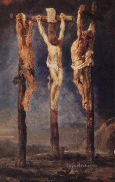 The Three Crosses Baroque Peter Paul Rubens Oil Paintings
