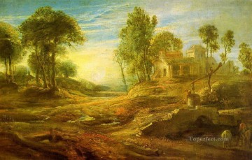 landscape with a watering place Peter Paul Rubens Oil Paintings