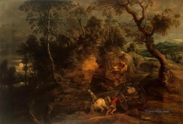 landscape with stone carriers Peter Paul Rubens Oil Paintings