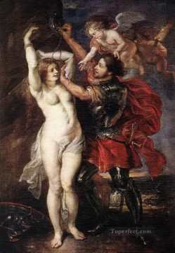 Peter Paul Rubens Painting - perseus and andromeda 1640 Peter Paul Rubens