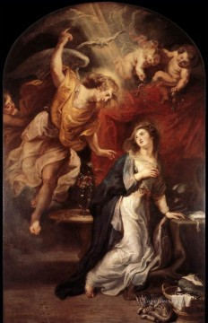 Peter Oil Painting - Annunciation 1628 Baroque Peter Paul Rubens