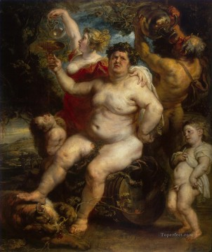 Peter Oil Painting - Bacchus Baroque Peter Paul Rubens