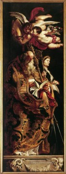 Raising of the Cross Sts Amand and Walpurgis Baroque Peter Paul Rubens Oil Paintings