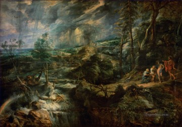 Stormy Landscape Baroque Peter Paul Rubens Oil Paintings