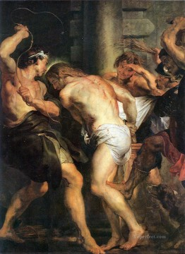 Peter Oil Painting - The Flagellation of Christ Baroque Peter Paul Rubens