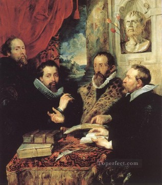 Peter Oil Painting - The Four Philosophers Baroque Peter Paul Rubens