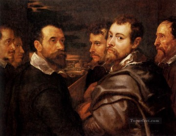Peter Oil Painting - The Mantuan Circle Of Friends Baroque Peter Paul Rubens