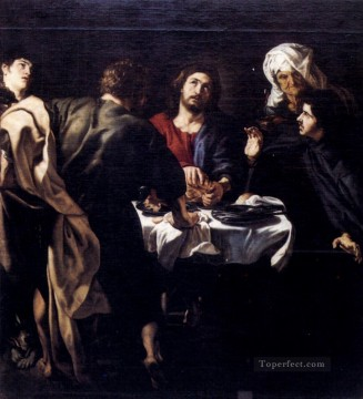 Peter Oil Painting - The Supper At Emmaus Baroque Peter Paul Rubens