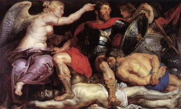 Peter Oil Painting - The Triumph of Victory Baroque Peter Paul Rubens