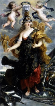 1625 Painting - marie de medicis as bellona 1625 Peter Paul Rubens