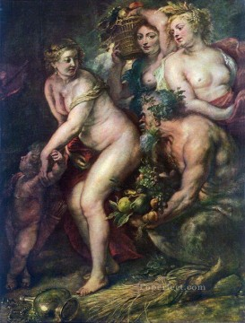 sine cerere et baccho friget venus Peter Paul Rubens Oil Paintings