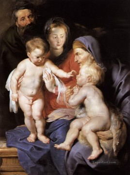 the holy family with st elizabeth and the infant st john the baptist Peter Paul Rubens Oil Paintings
