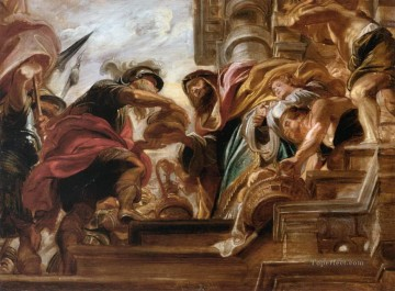 the meeting of abraham and melchisedek 1621 Peter Paul Rubens Oil Paintings