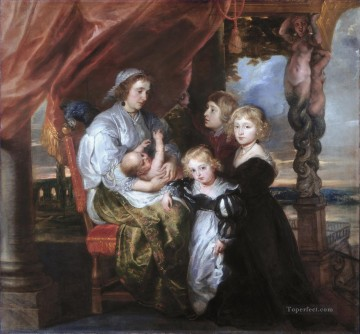 Deborah Kip Wife of Sir Balthasar Gerbier and Her Children Peter Paul Rubens Oil Paintings