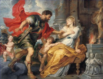 Mars and Rhea Silvia Baroque Peter Paul Rubens Oil Paintings
