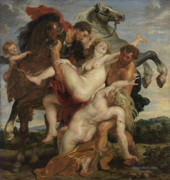 Rape Art - Rape of the Daughters of Leucippus Baroque Peter Paul Rubens