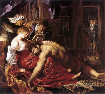 Peter Oil Painting - Samson and Delilah Baroque Peter Paul Rubens