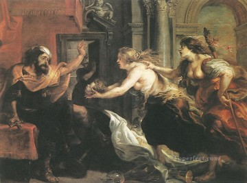 Peter Oil Painting - Tereus Confronted with the Head of his Son Itylus Baroque Peter Paul Rubens