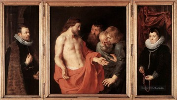 red Oil Painting - The Incredulity of St Thomas Baroque Peter Paul Rubens