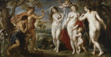 Peter Oil Painting - The Judgment of Paris 1639 Baroque Peter Paul Rubens