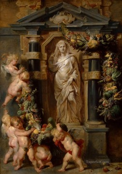 Peter Canvas - The Statue of Ceres Baroque Peter Paul Rubens