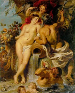 Peter Oil Painting - The Union of Earth and Water Baroque Peter Paul Rubens