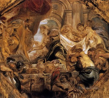 king solomon and the queen of sheba Peter Paul Rubens Oil Paintings
