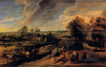 the return of the farm workers from the fields Peter Paul Rubens Oil Paintings