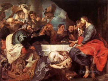 Christ at Simon the Pharisee Baroque Peter Paul Rubens Oil Paintings