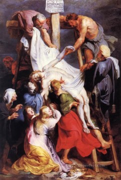 Baroque Canvas - Descent from the Cross 1616 Baroque Peter Paul Rubens