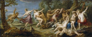 Diana and her Nymphs Surprised by the Fauns Baroque Peter Paul Rubens Oil Paintings