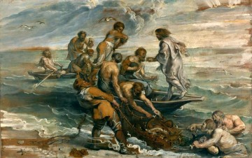 Miraculous Fishing Peter Paul Rubens Oil Paintings
