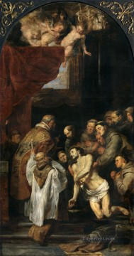 Peter Oil Painting - The Last Communion of St Francis Baroque Peter Paul Rubens