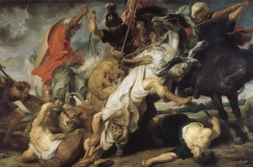 lion - The Lion Hunt Peter Paul Rubens